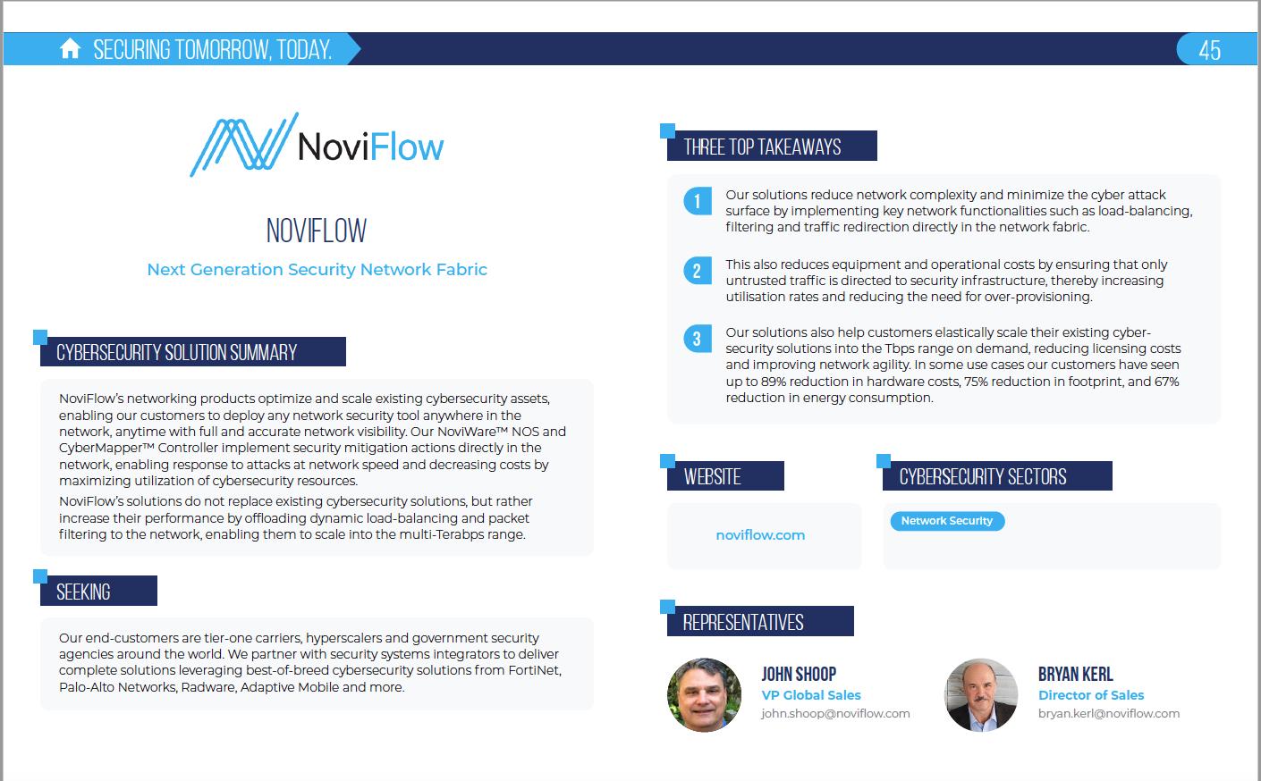 Cybersecurity e-book NoviFlow page
