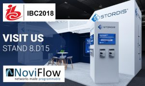 NoviFlow and Stordis to demonstrate SDN in Broadcasting at IBC 2018