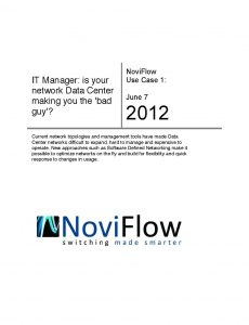 White paper SDN software defined networking for network managers easy to operate and scale