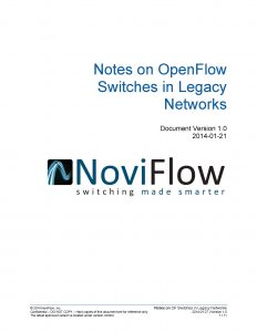 sdn switch in legacy network white paper