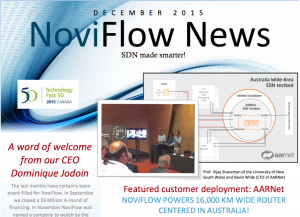 NoviFlow Newsletter inaugural issue released and available for download