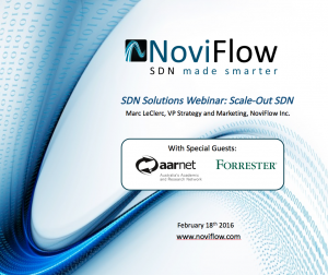 SDN Solutions Webinar: Scale-Out SDN