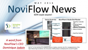 NoviFlow's May 2016 Newsletter is here!