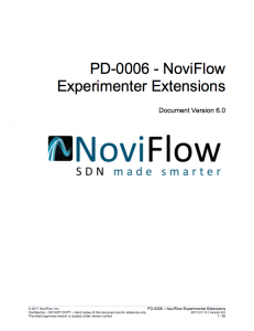 OpenFlow Experimenter Extensions Manual