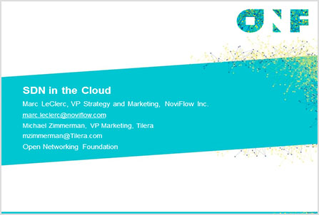 Software-Defined Networking in the Cloud,